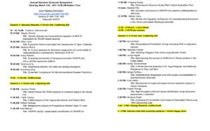 Genomic Sciences Symposium 2021 Schedule